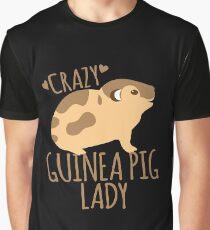 Crazy Guinea Pig Lady Graphic T-Shirt