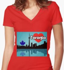 Toronto Women's Fitted V-Neck T-Shirt