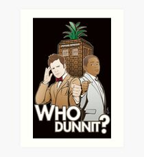 Crime Fighting Duo Art Print