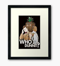 Crime Fighting Duo Framed Print