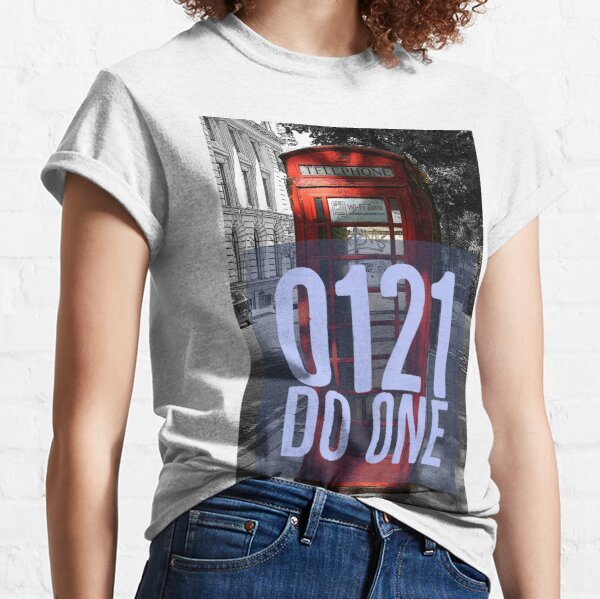 0121 Do One on Red Phone Box Classic T-Shirt