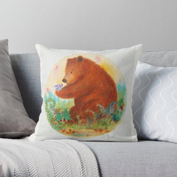 bear and bunny Throw Pillow