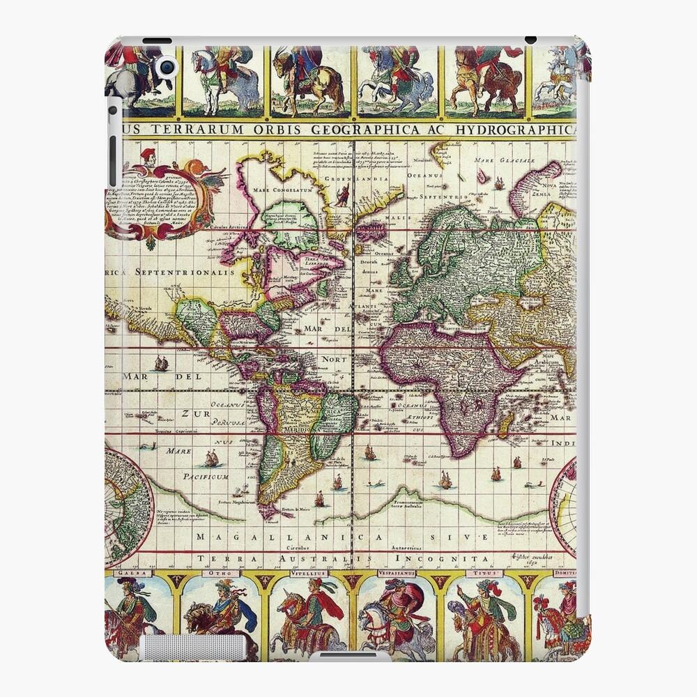 Vintage 1652 World Map by Claes Janszoon Visscher iPad Case & Skin