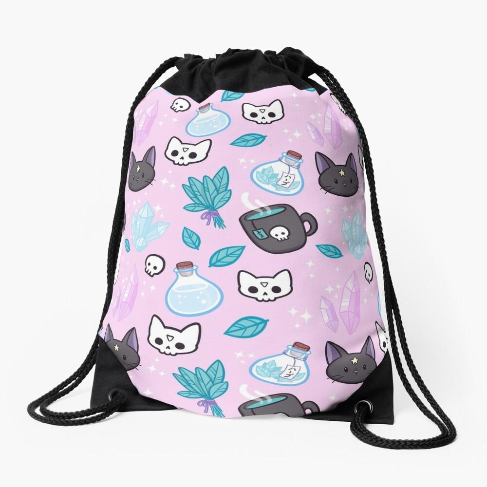 Herb Witch // Pink Drawstring Bag