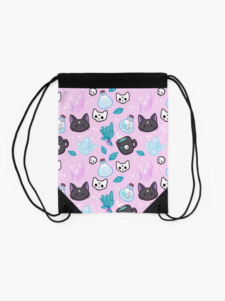 Alternate view of Herb Witch // Pink Drawstring Bag