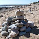 Rocks on Rocks at Matunuck Beach by Jack McCabe