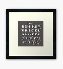 Homemade tattoos alphabet Framed Print