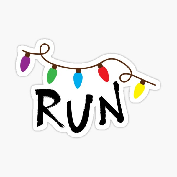 Run (Stranger Things) Sticker