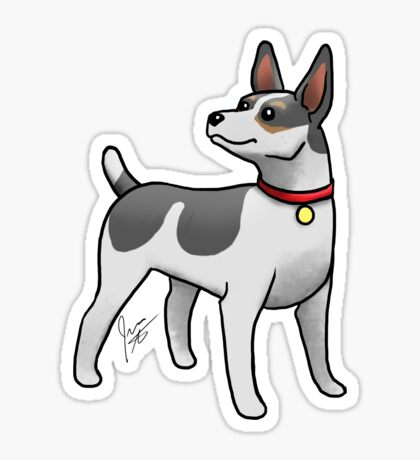 Rat Terrier Glossy Sticker