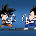 Goku vs Vegeta by tombst0ne