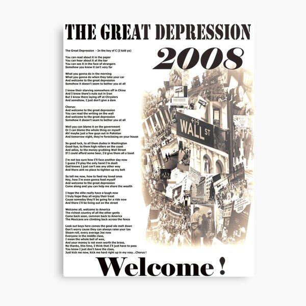 The Great Depression   Metal Print