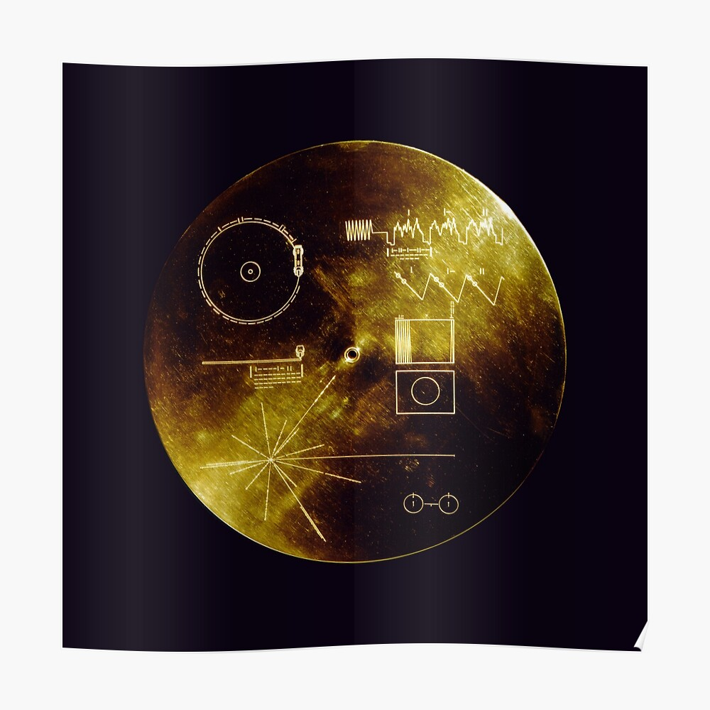 Voyager Golden Record Póster