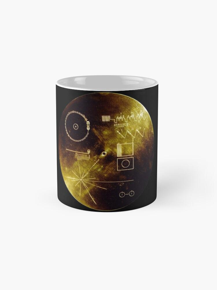 Alternative Ansicht von Voyager Goldene Schallplatte Tasse (Standard)