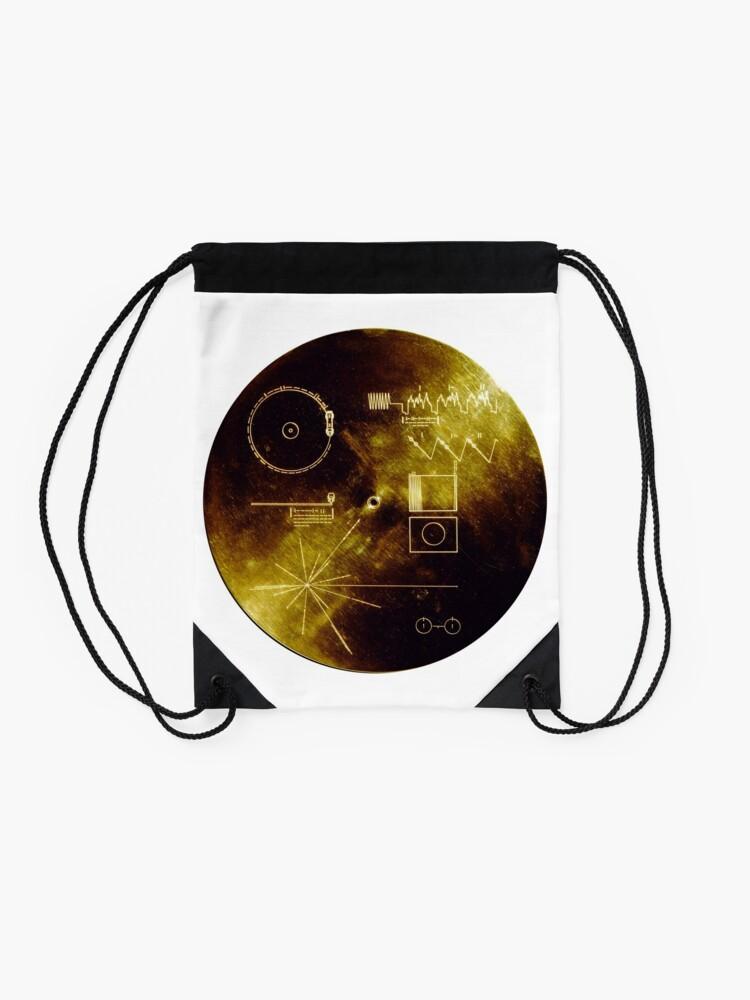 Alternative Ansicht von Voyager Goldene Schallplatte Rucksackbeutel