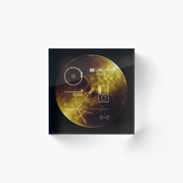 Voyager Golden Record Acrylic Block