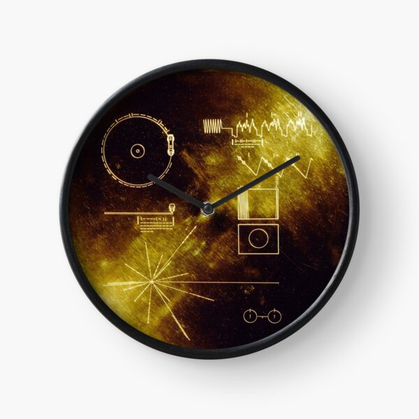 Voyager Golden Record Clock