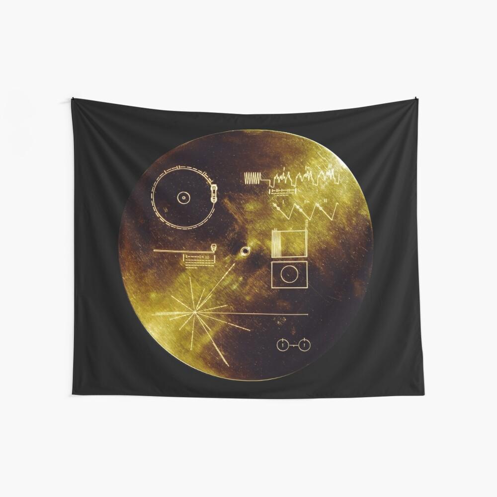 Voyager Goldene Schallplatte Wandbehang
