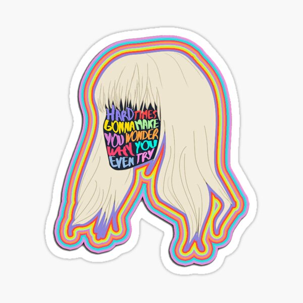 Hard Times Paramore Sticker