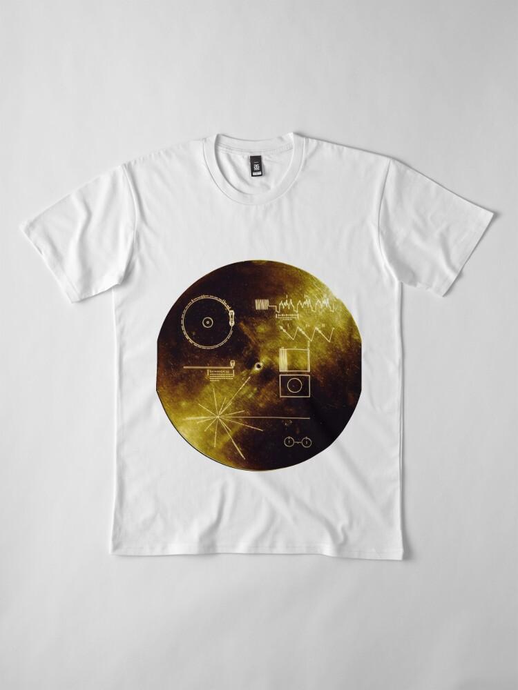 Alternative Ansicht von Voyager Goldene Schallplatte Premium T-Shirt