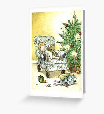 Weihnachten mit Teddy Greeting Card