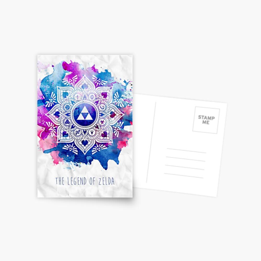 Die Legende eines Zelda Mandala Postkarte