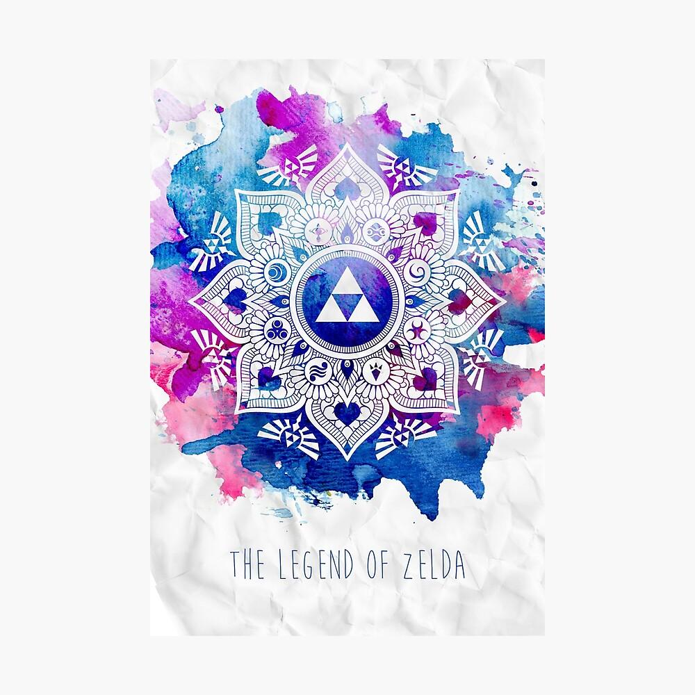 Die Legende eines Zelda Mandala Fotodruck