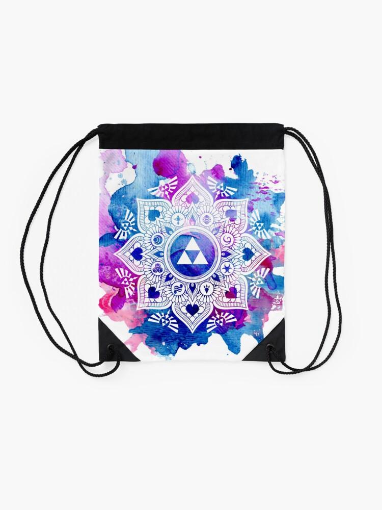 Alternative Ansicht von Die Legende eines Zelda Mandala Turnbeutel