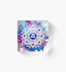 The Legend of a Zelda Mandala Acrylic Block
