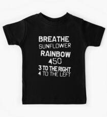 Breathe Sunflower Rainbow Kids Tee