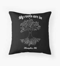 My Roots Are In Memphis Michigan Floor Pillow