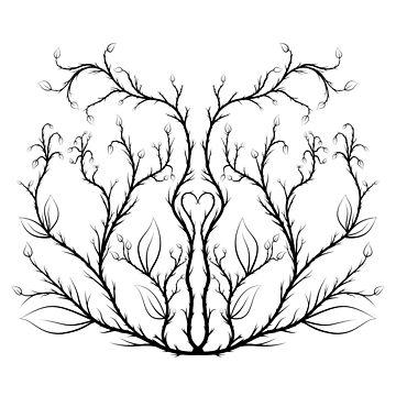 Symmetric Vines (Black) by Kniffen