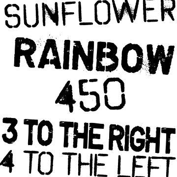 Breathe Sunflower Rainbow by zombiemama