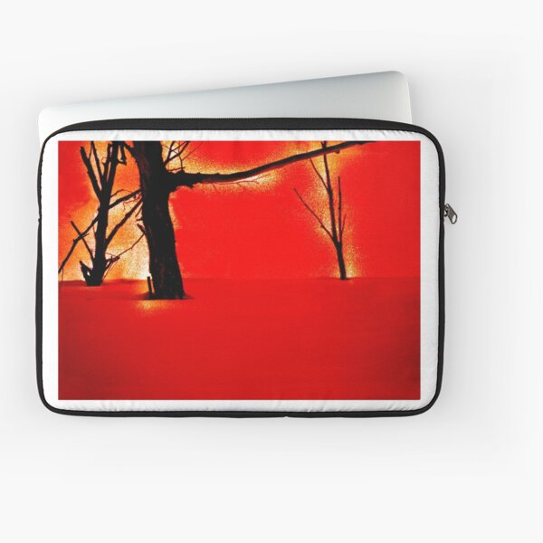 Red Snow Hill Laptop Sleeve