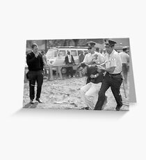 Feel The Bern - Bernie Sanders Black and White Protest Print Greeting Card