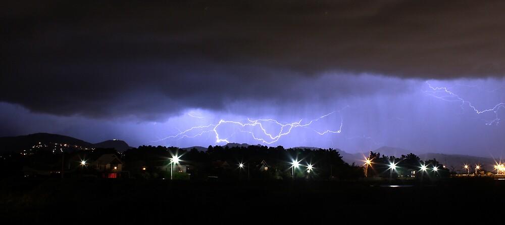 Lightning strikes by Karl Soulos