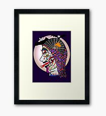 THE SNAKE WOMAN Framed Print