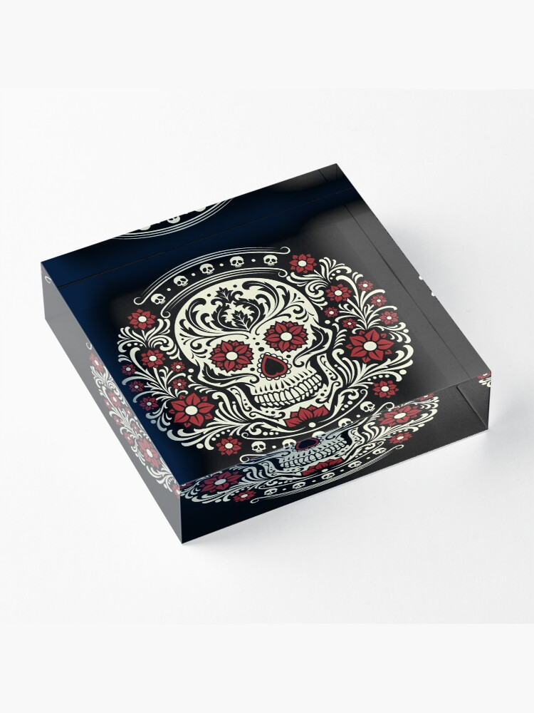 Alternate view of Day of the Dead Acrylic Block