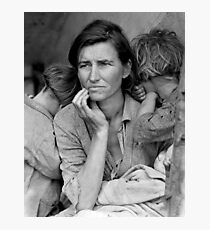 The Great Depression - Migrant Mother Photographic Print
