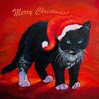 Merry Christmas Kitten by Zina Stromberg