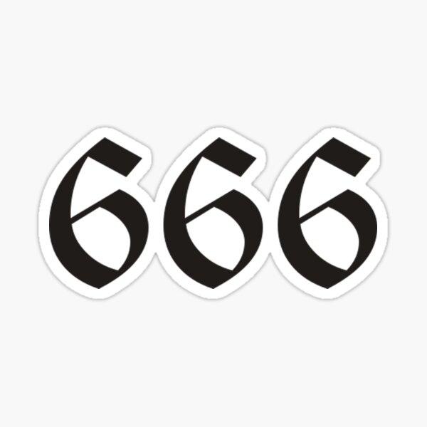666 Pegatina