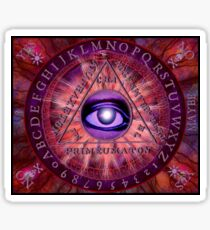 Triangle Of Art Necronomicon Divination Board Sticker