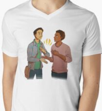 troy and abed - the morning show funny Men's V-Neck T-Shirt