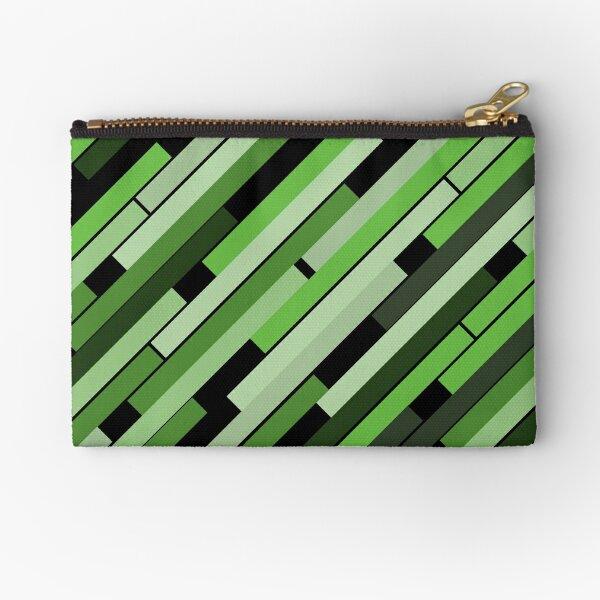 Linear Green - Bauhaus Inspired Zipper Pouch