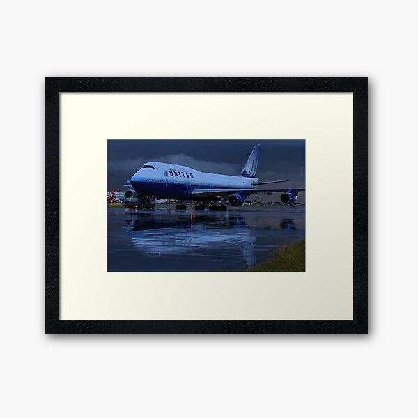 United Airlines Boeing 747-400 Framed Art Print