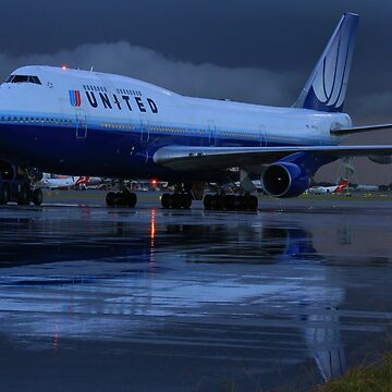 United Airlines Boeing 747-400 by code7600