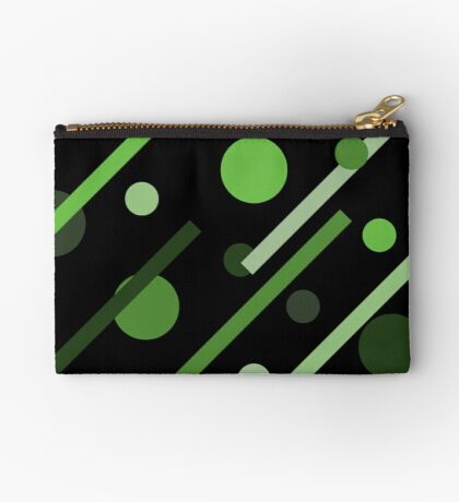 Linear Green - Dots and Dashes Studio Pouch