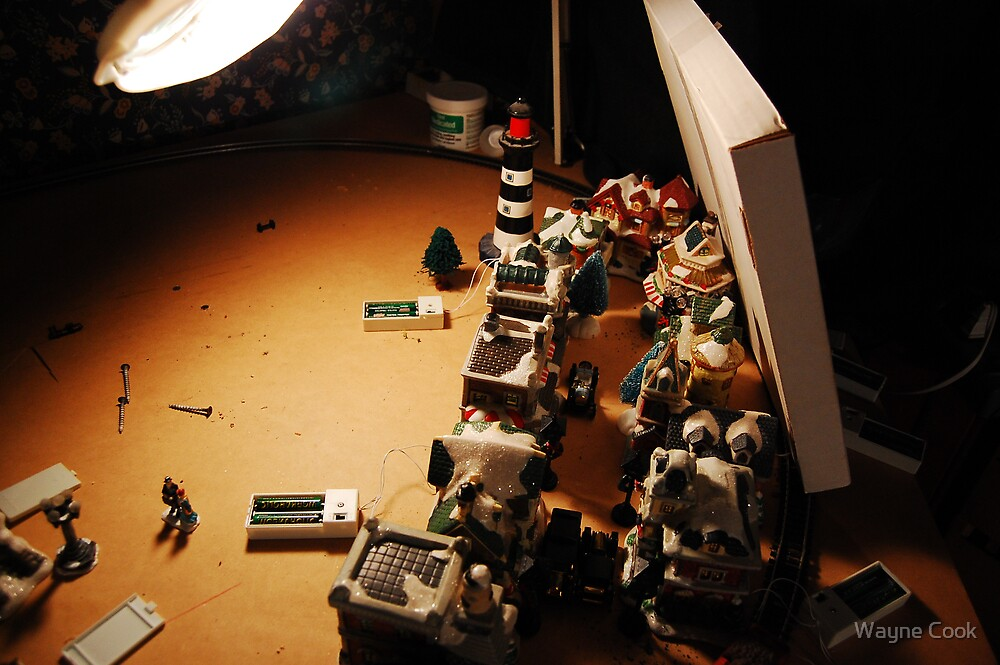 Building the diorama by Wayne Cook