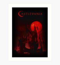 castlevania - castle of vampire and dracula Art Print