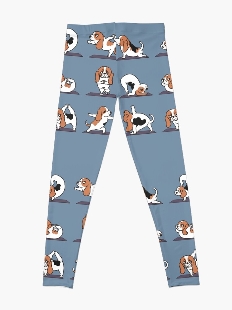 Alternate view of Basset Hound yoga Leggings