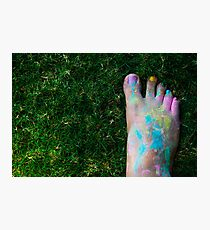 Holi Foot Photographic Print
